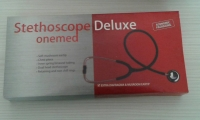 Stethoscope deluxe Om Dus Red